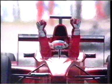 Schumacher after his victory